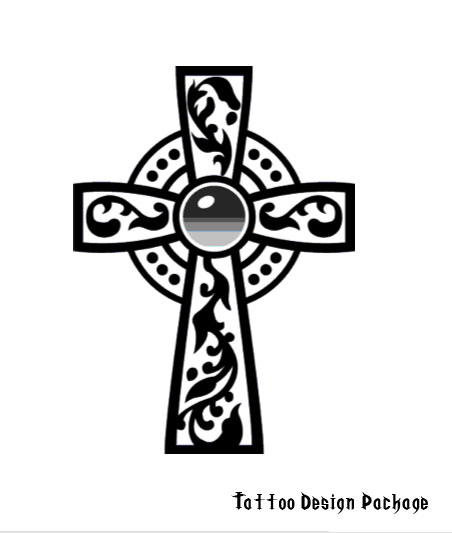 Corner Celtic Cross Tattoo Designs Picture 9